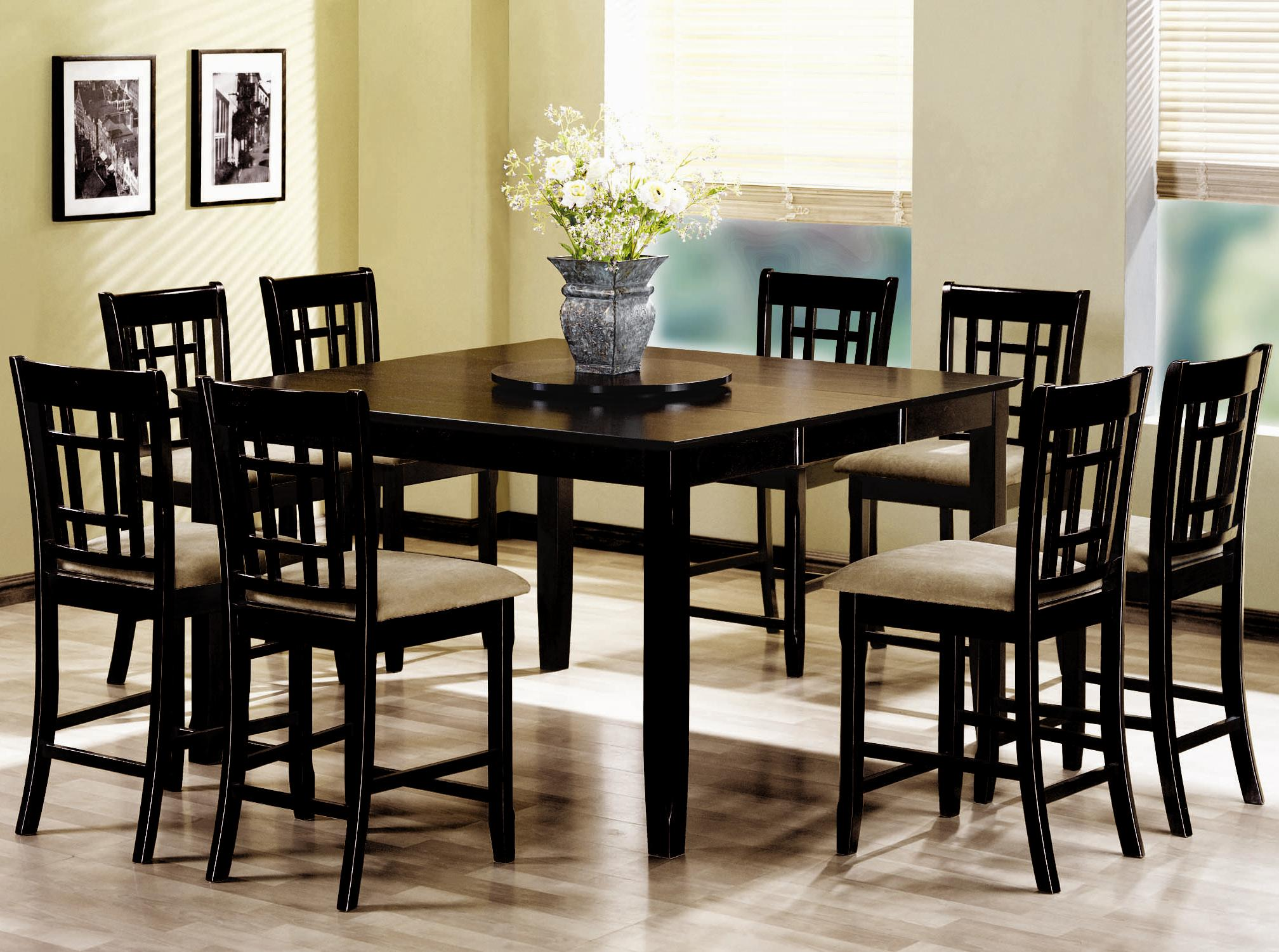 Counter Height Dinette Sets HomesFeed : Dinette Set With Black Eight Chairs And Rectangular Table from homesfeed.com size 2016 x 1500 jpeg 326kB