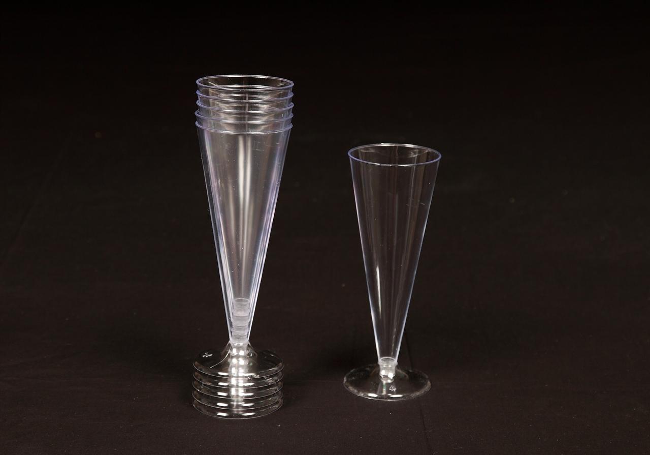 Disposable Plastic Champagne Flutes Glasses