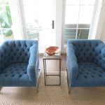 Double Living Room Blue Comfortable Accent Chairs