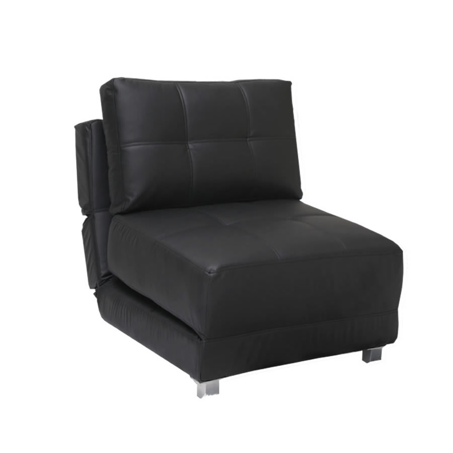Double Futon Chair In Black