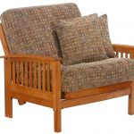Double futon chair with modern motif