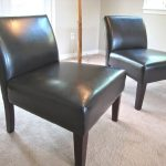 Elegant Armless Leather Slipper Chair