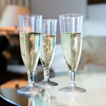 Elegant Flutes Of Disposable Champagne
