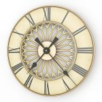 Elegant round wall clock in fine gold tone color