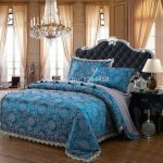 European Bedding High End Linens With Crystal Chandelier