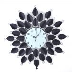 Flower themed fancy wall clock product