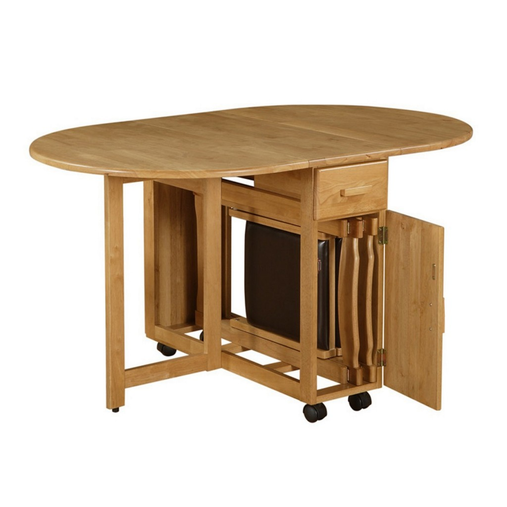 Folding Table Of Dining Room For Small Es Modern Kitchen With Foldable Chairs