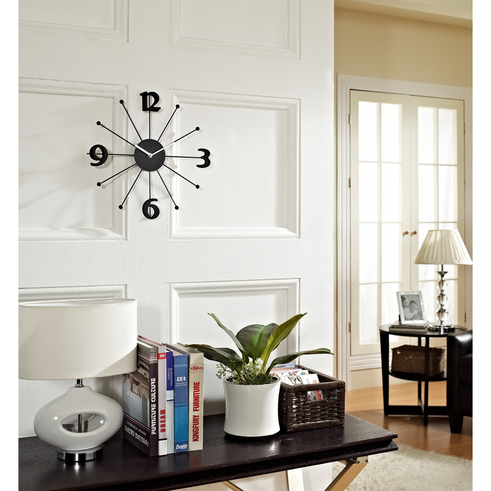 Decorative fancy wall clocks homesfeed frameless wall clock in black amipublicfo Choice Image