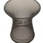 Glass Platner Side Table