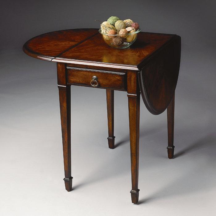 Narrow Drop Lead Table Design Options Homesfeed. Dark Brown Color Painted  Wood Rectangular Double Drop Leaf ...