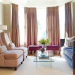 Good Living Room Furniture Arrangement With Long Wide Curtains