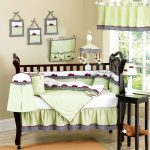 Great Lady Bug Bedding Sets For Cribs With Green Color