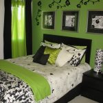 Green Decor Of Bedroom Ideas For Young Adults
