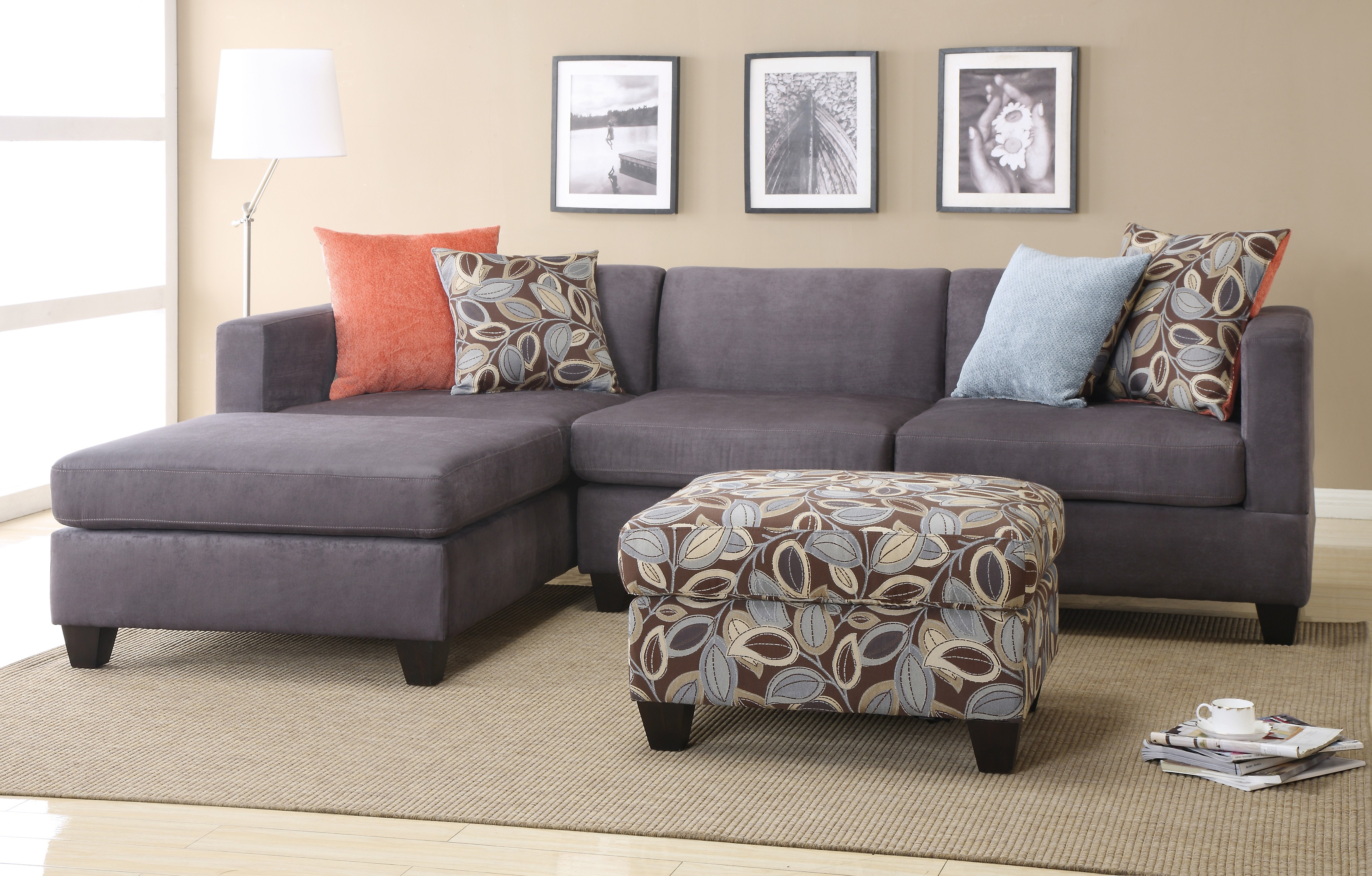 chaise pop giordano grey furniture nader and with couch up product storage unit sofa ottoman s amp suede