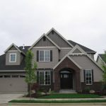 Grey House With Bricks And Siding Options for Homes