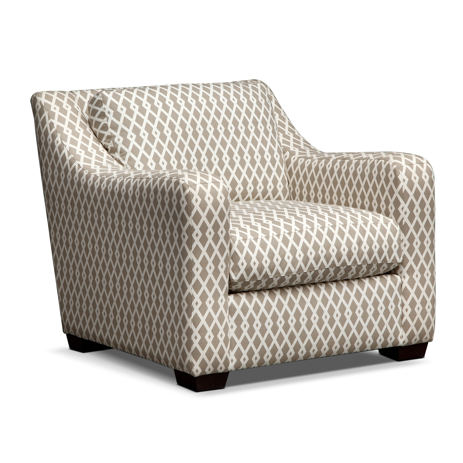 Grey Microfiber Comfortable Accent Chairs