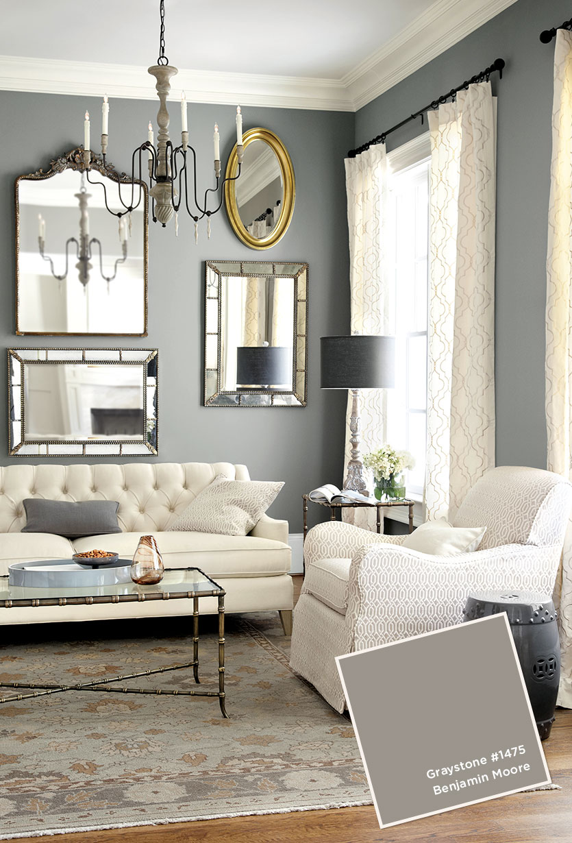 Interior paint colors for 2016 homesfeed for Grey and white living room ideas
