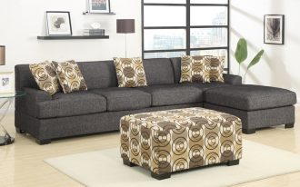 Grey Sofa 2 Piece Sectional Sofa With Chaise And Pillows