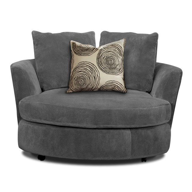 Oversized lounge chair as functional and comfy seater for Grey comfy chair