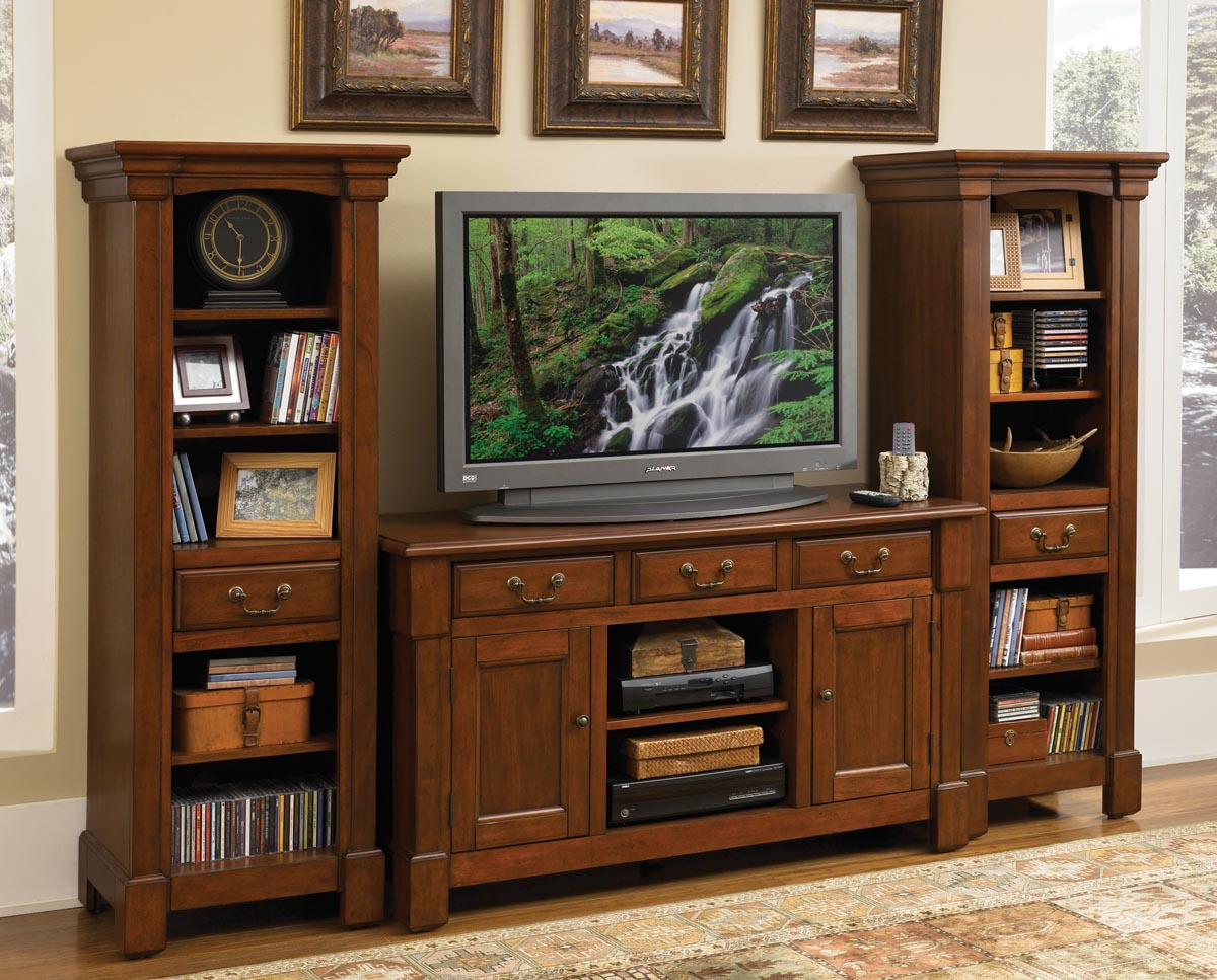 Cherry wood entertainment center homesfeed Wooden entertainment center furniture