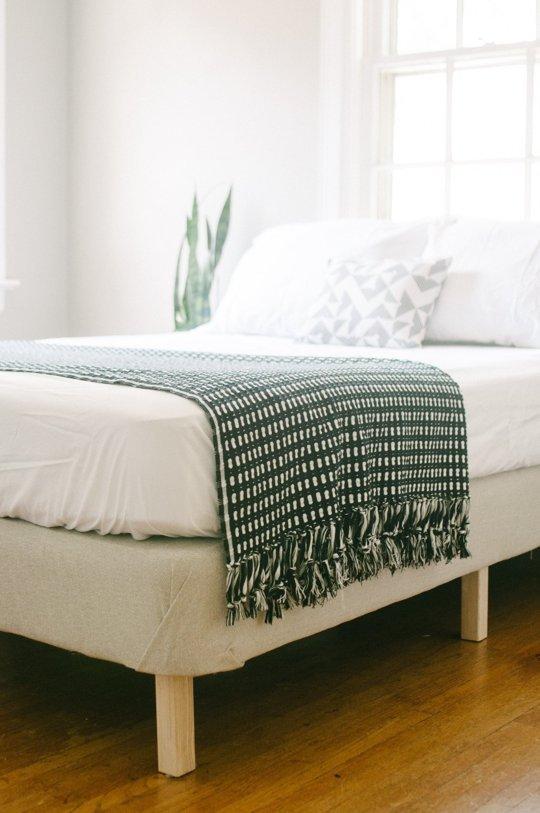 Ikea Spring Box In White Color Bedding Pillows