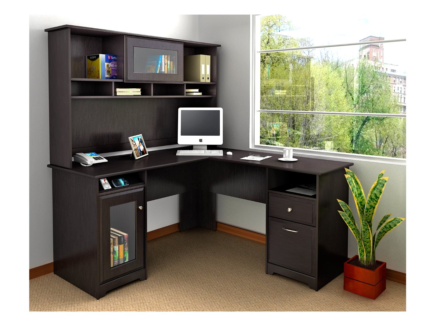 Corner Desk With Shelves Design