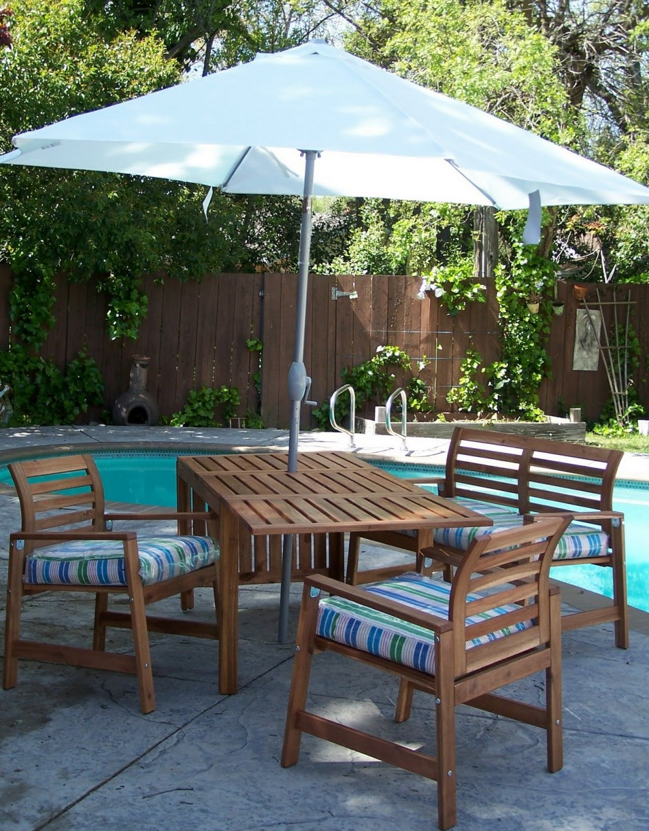 ikea outdoor patio furniture. ikea patio umbrella with wooden furniture set on pool area outdoor u