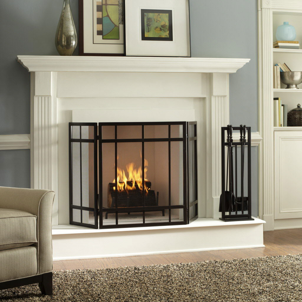 Interior Design Of Fireplace With White Color And Fence Designs Ideas  HomesFeed