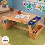 Kidcraft Table With Rack And Storage On Green Rug