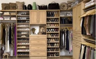 Large clothes storage idea made from wooden which is designed by Martha Stewart