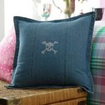 Lauren-University-by-Ralph-Lauren-Denim-Skull-&-Crossbone-Bling-Throw-Pillow;-18-x-18-in-2.1-pounds-of-the-wight