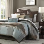 Lincoln-Square-8-Piece-Comforter-Set-for-men-with-simple-and-elegant-look-also-made-of-polyester-for-softness-and-comfort-with-plaid-pattern-and-decorative-pillows