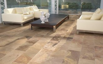 Living Room Floor Tile Design With Rectangular Porcelain Shape