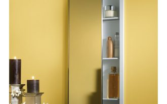Long Medicine Cabinet Design With Big Mirror