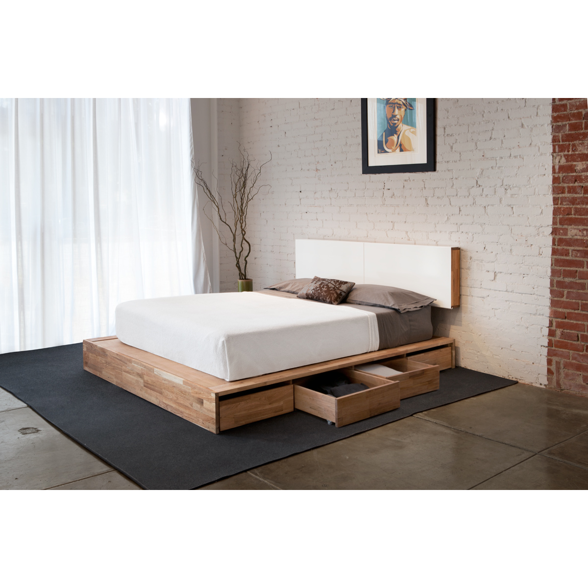 Full Bed Frame with Storage, A Smart Solution for Extra Storage Space : HomesFeed