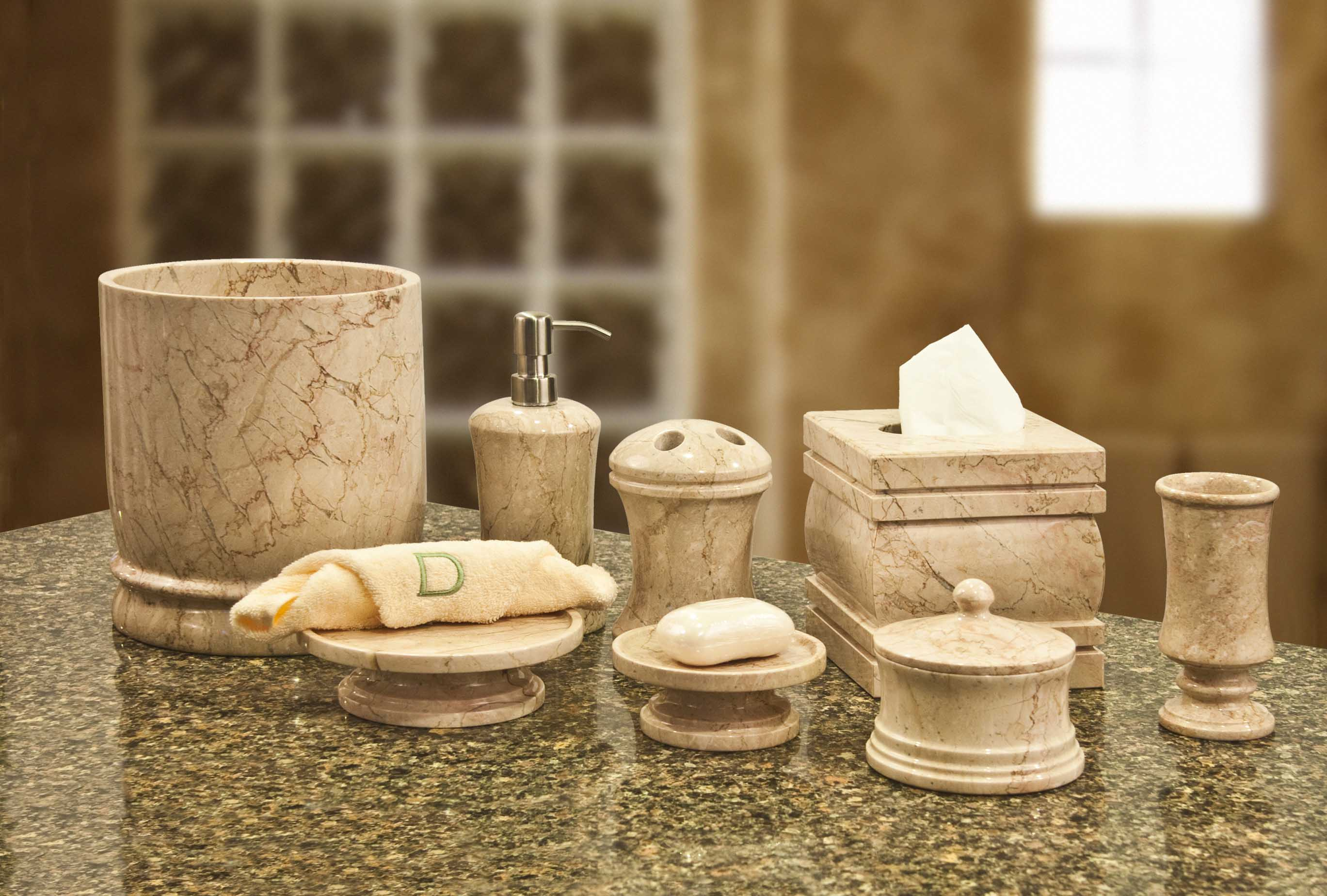 Bath accessories sets ideas homesfeed for Marble bathroom accessories