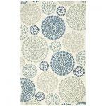 Maysa-Pinwheel-Rug-with-blues-and-grays-on-an-ivory-background-and-polyester-vacuum-as-needed-and-in-blue-color