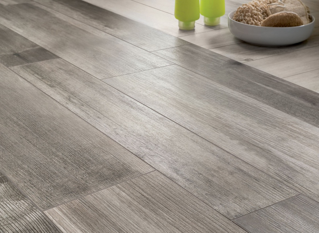 Rectangular floor tile design homesfeed medium grey wood floor tile with rectangular shape dailygadgetfo Images