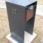 Metal modern mailbox idea
