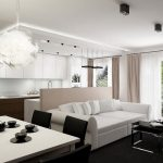 Modern Apartment Interior Design For White Living Room