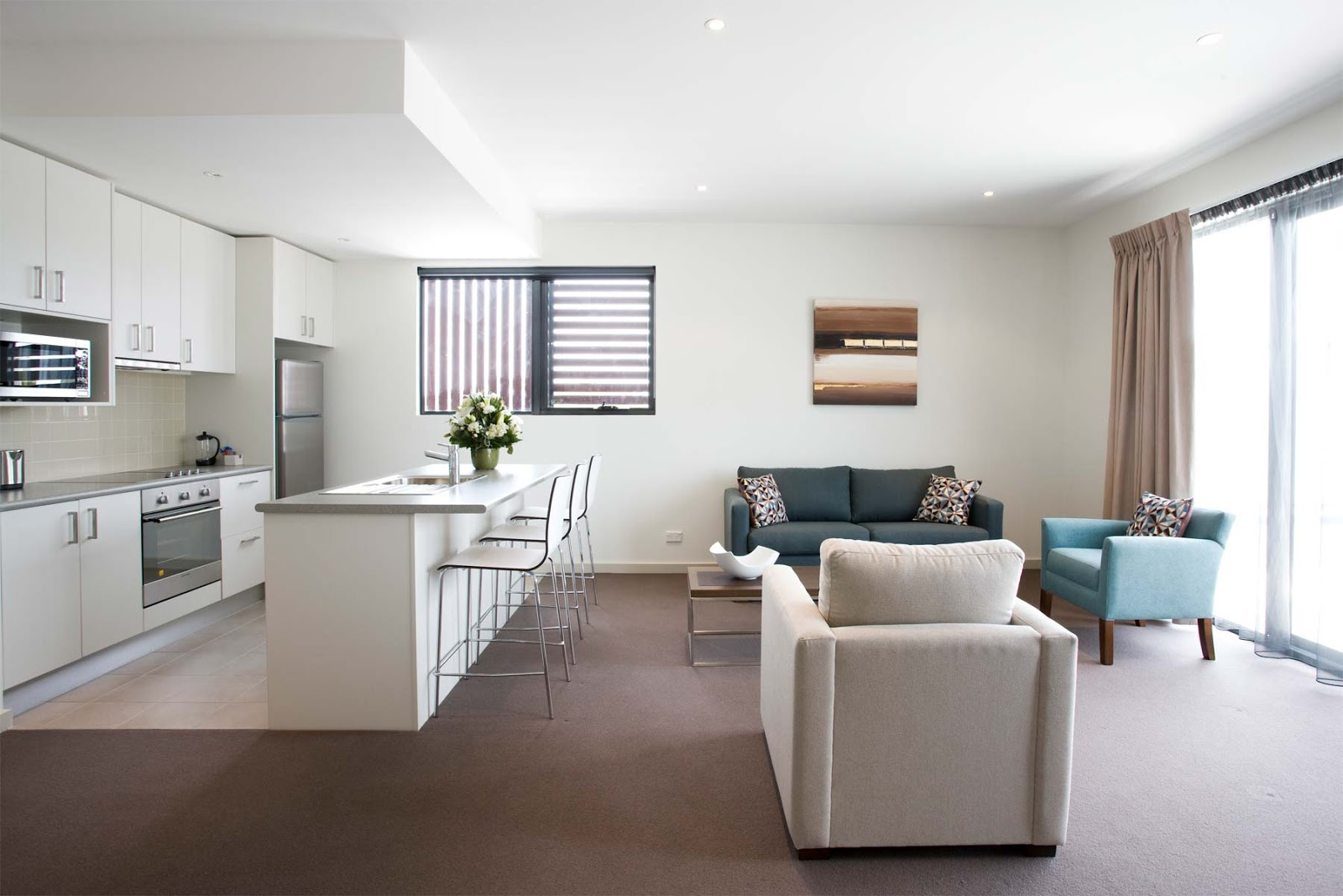 Modern Minimalist Apartment Kitchen Set