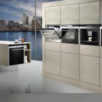 Modern Side By Side Ovens On White Furniture