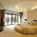 Modern Simple Ceiling Bedroom Designs With Round Shape Lights