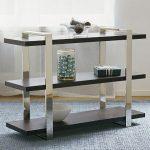 Modern minimalist wood and metal rack for books