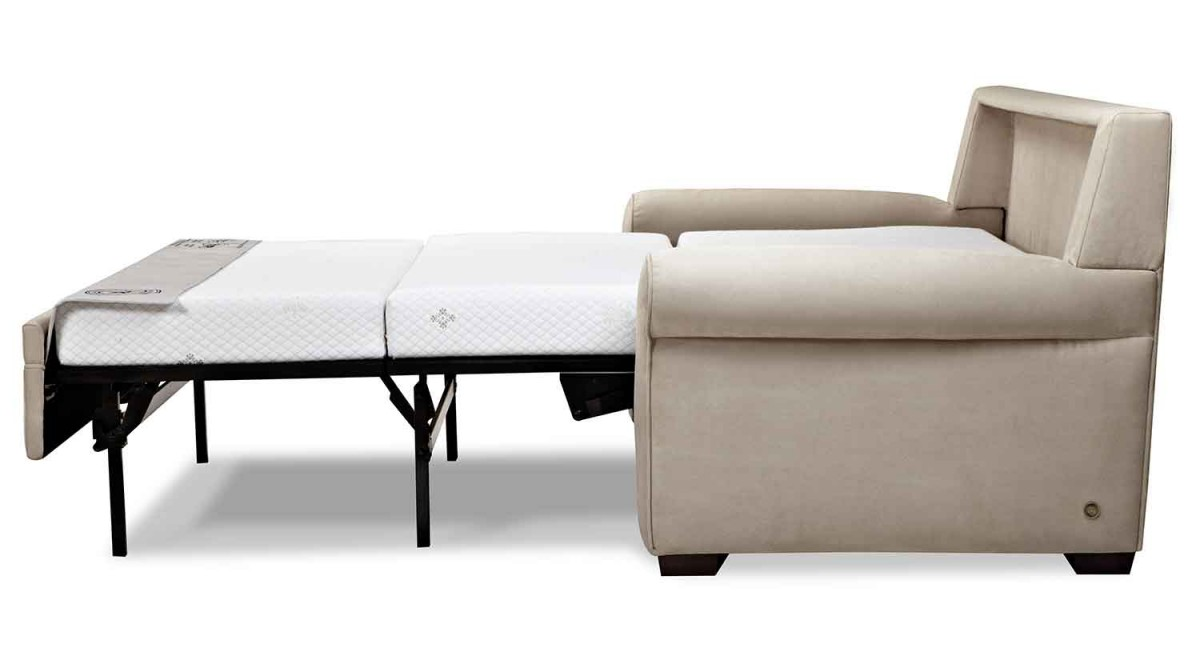 Most Comfortable Sleeper Sofa With White Mattress And Cream Color Of