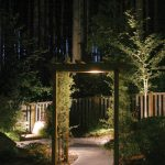 Outdoor Lighting For Gazebo And Garden Surround With Plants