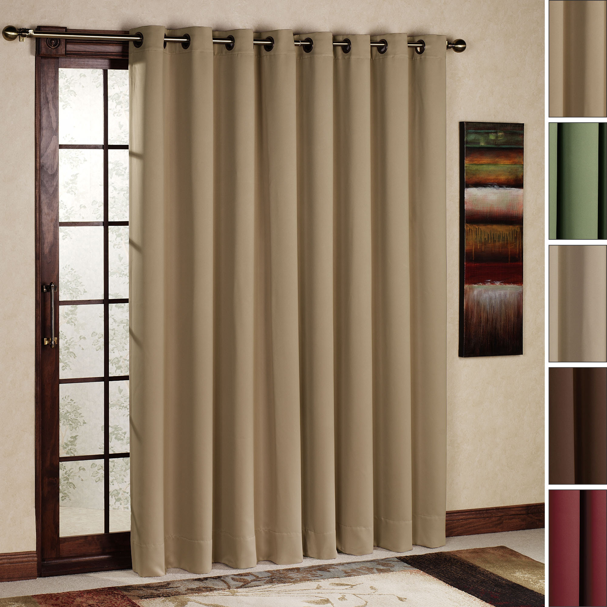 patio door curtain ideas | homesfeed - Patio Window Curtain Ideas