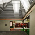 Pavilion Hall With Pyramid Polycarbonate Roof Panels