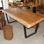 Pedestal Real Wood Dining Table