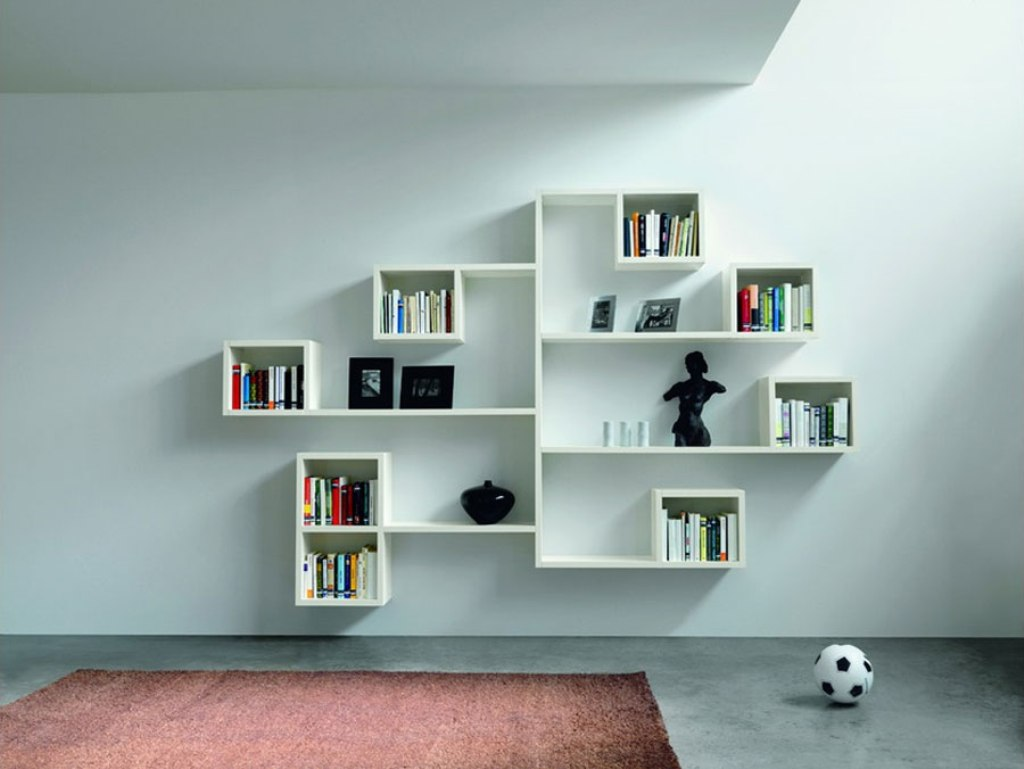 Wall Shelves For Living Room wall shelves for books design | homesfeed